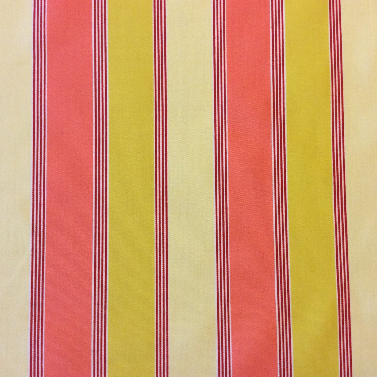 6 YARD BOLT! Classic Stripe Warm Striped Geo Patio Awning Indoor Outdoor Home Dec Fabric PCS119