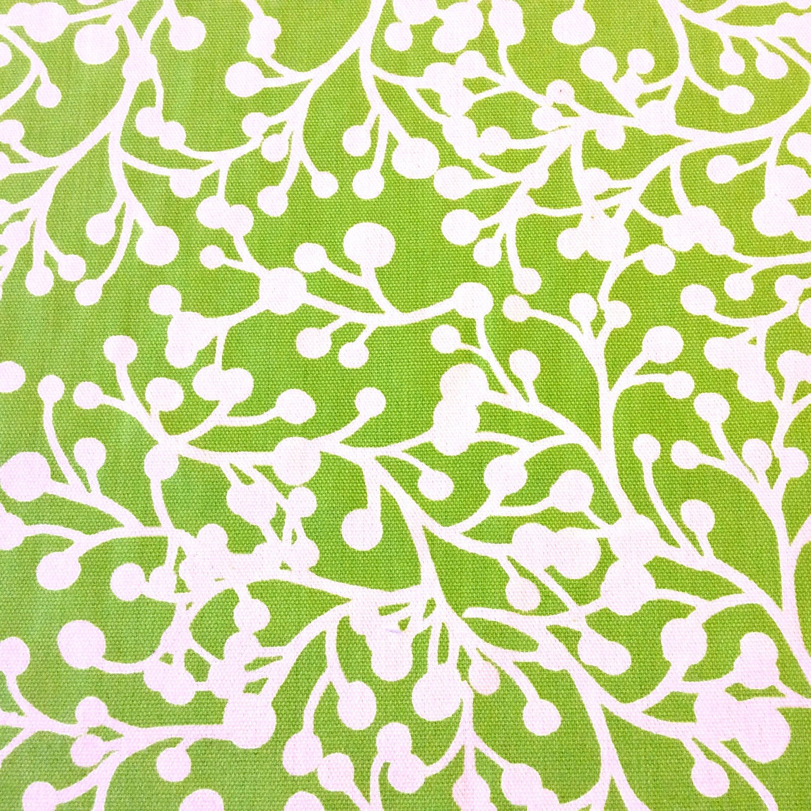 Floral Lime Dot Branches Garden Floral Patio Awning Home Dec Indoor Outdoor Fabric s406