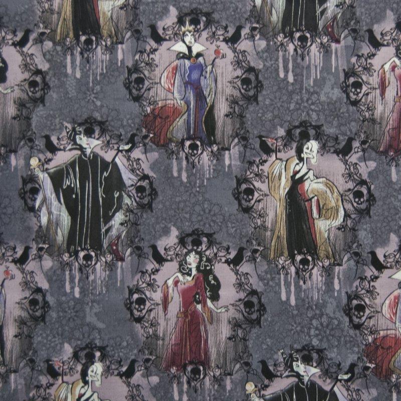 Disney Villiains Maleficent Cruella Deville Quilting Cotton Quilt Fabric SC09