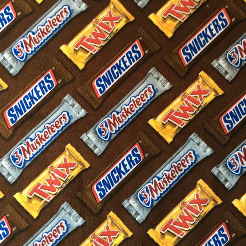 e69e3c3ac4c06 MSSC13 Chocolate Candy Bar Snickers Twix 3 Musketeers Quilting ...