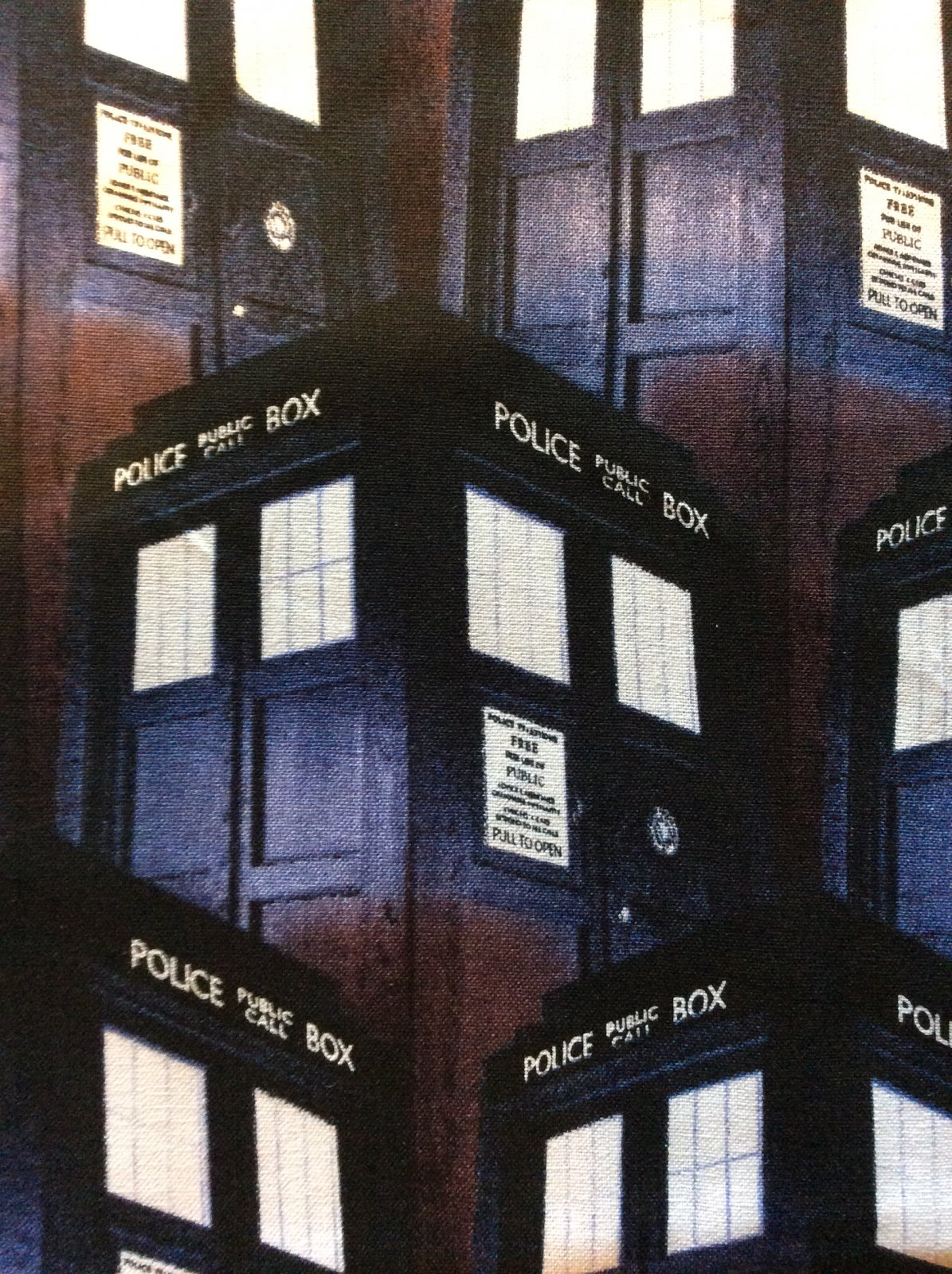 SC14 Dr Who T.A.R.D.I.S. Rose Sonic Screwdriver Time Space Cotton Quilt Fabric