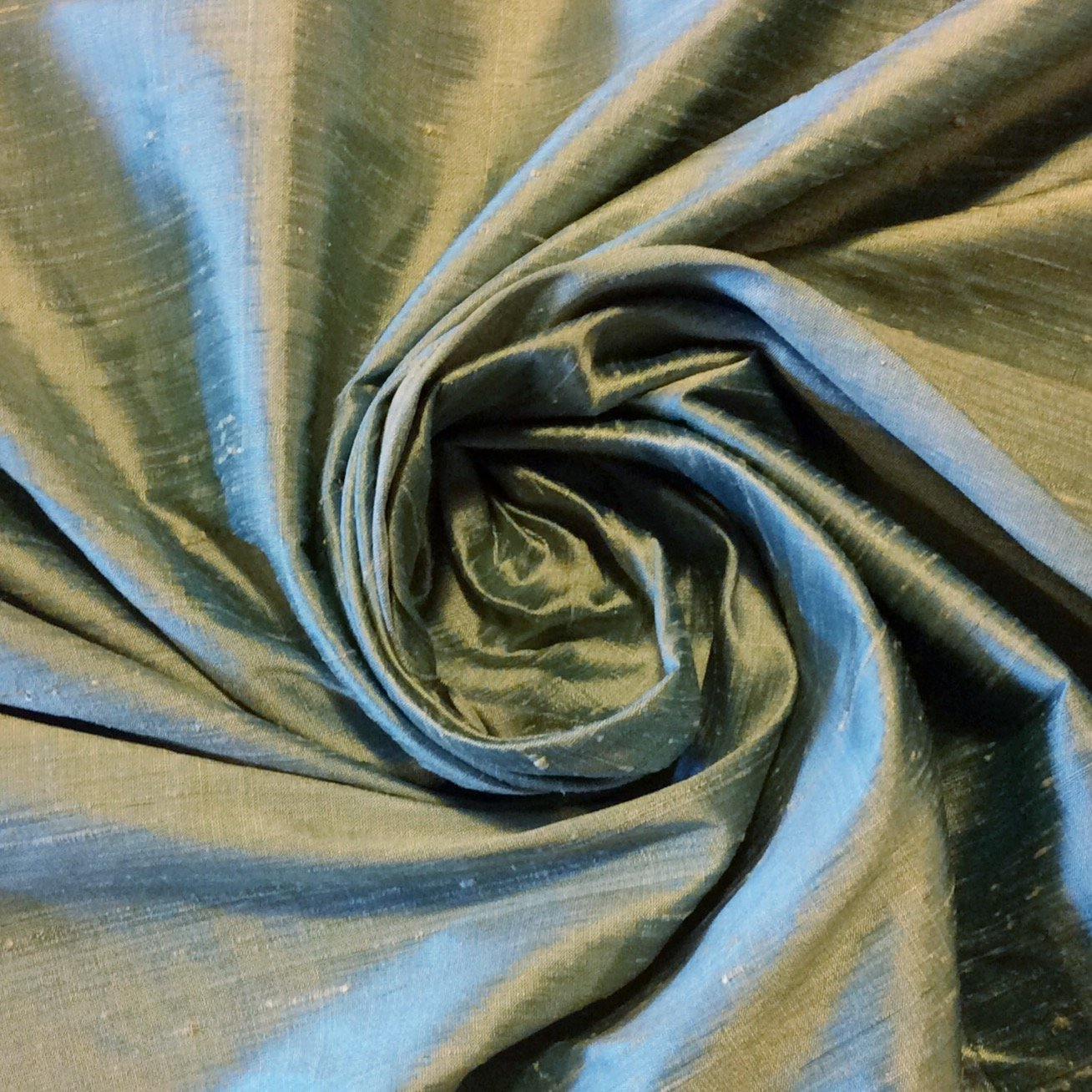 SILK SH06 Jade Green Exquisite Hand Woven Dupioni 100% Silk Fabric Drapery Fabric