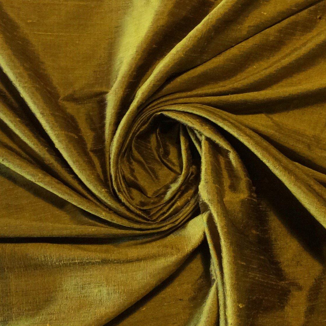 SILK SH016 Dark Honey Exquisite Hand Woven Dupioni 100% Silk Fabric Drapery Fabric