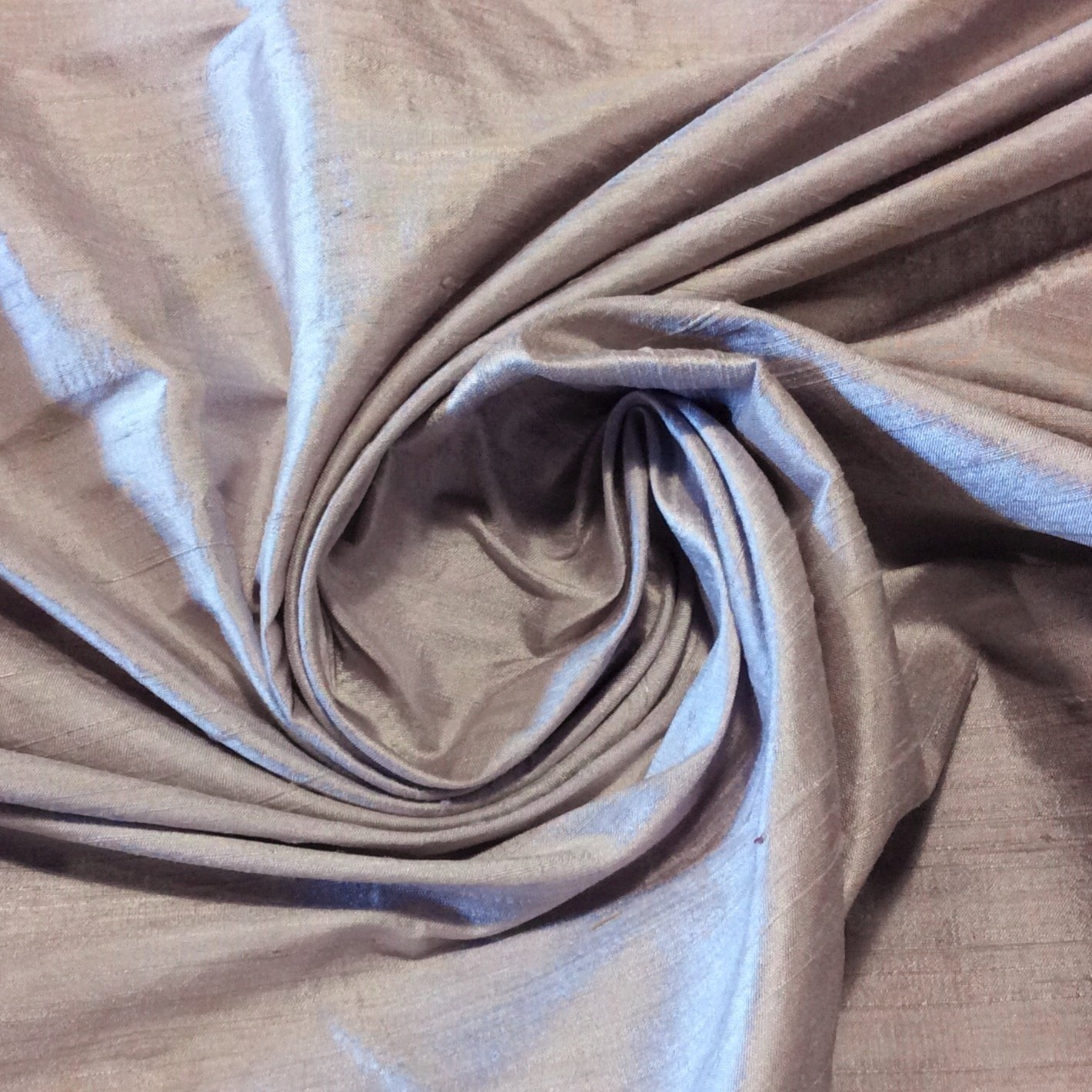 SILK SH025 Lilac Taupe Exquisite Hand Woven Dupioni 100% Silk Fabric Drapery Fabric