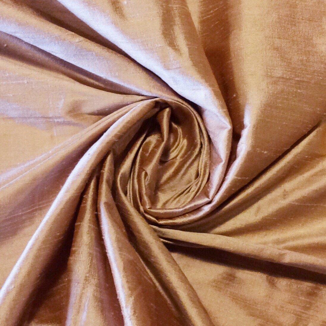 SILK SHW17 Desert Exotic Hand Woven Dupioni 100% Silk Fabric Drapery Fabric