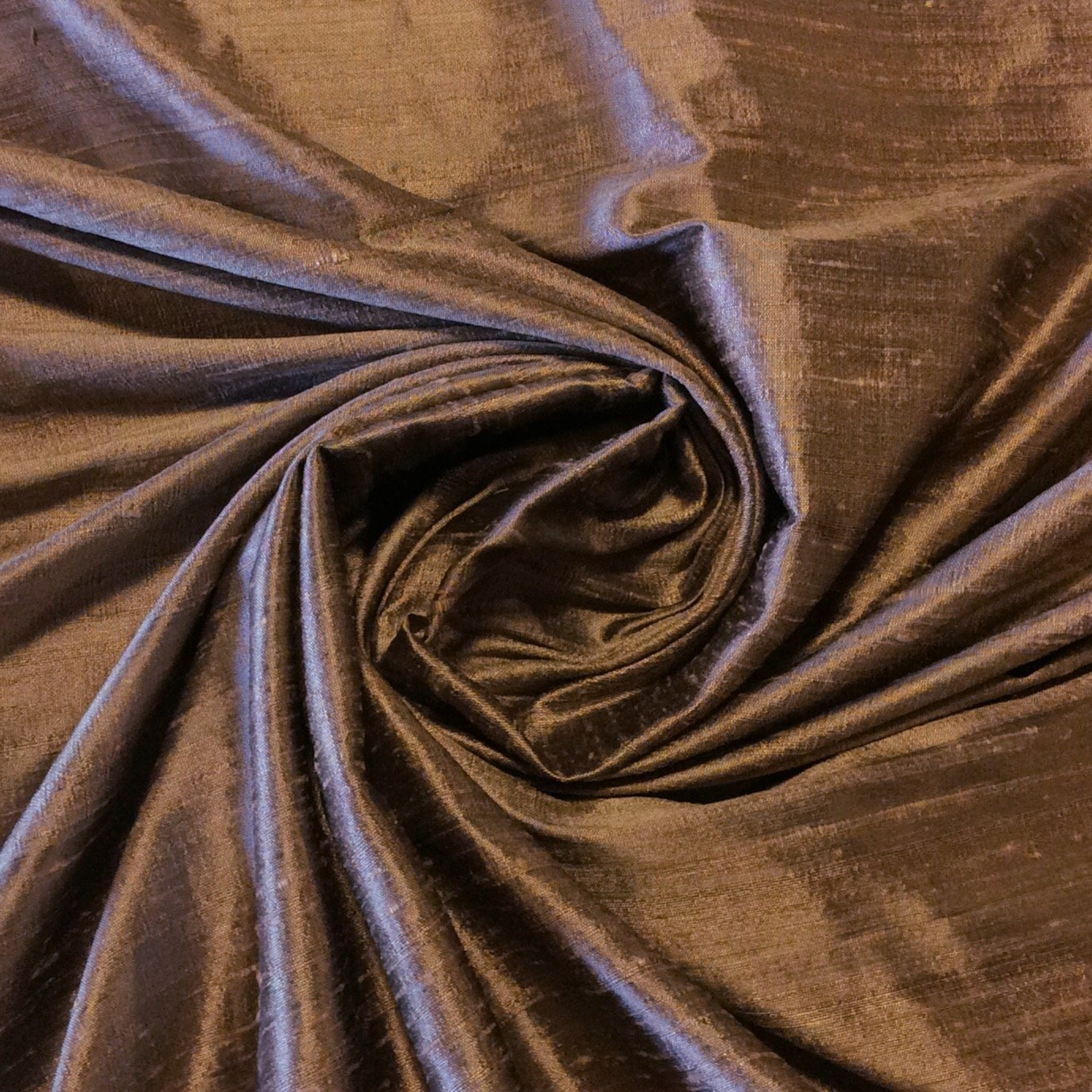 SILK SHW23 Light Brown Exotic Hand Woven Dupioni 100% Silk Fabric Drapery Fabric BY