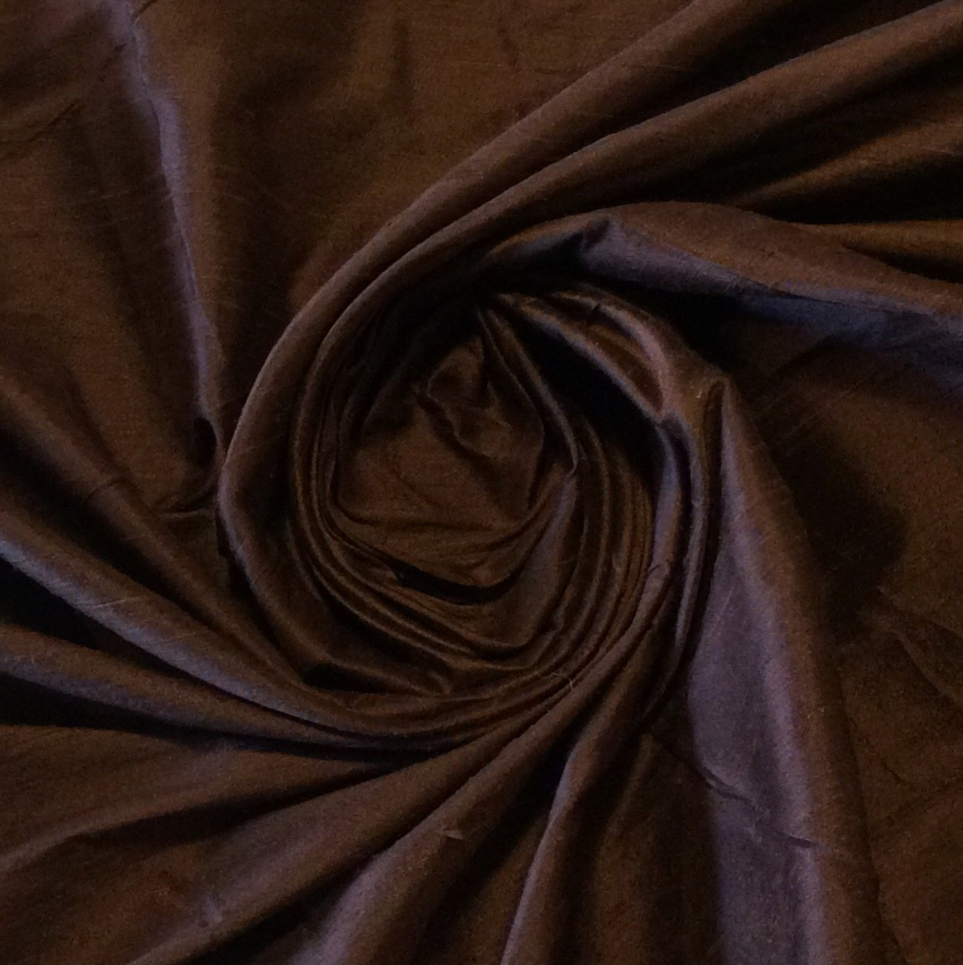 SILK SHW26 Chocolate Brown Hand Woven Dupioni 100% Silk Drapery Costume Fabric