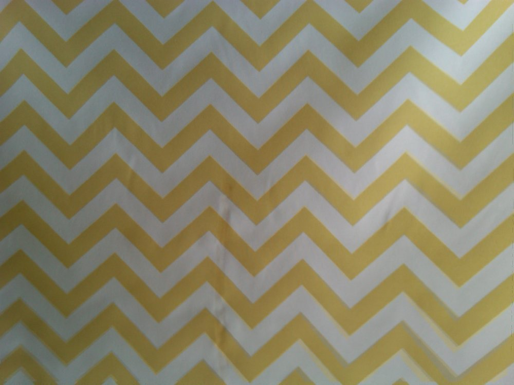 CHEVRON Sunny Yellow & White Indoor Outdoor Printed Famous Maker Fabric SL031