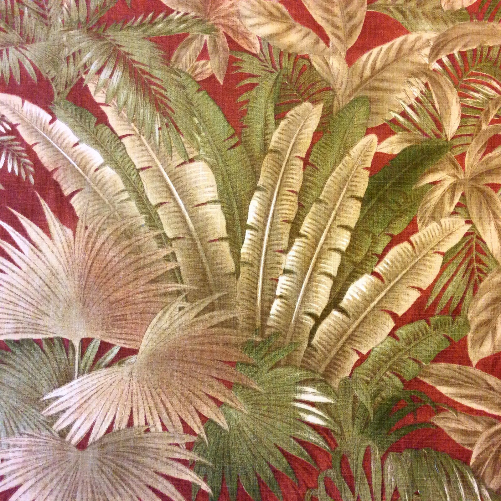 Tommy Bahama Palm Frond Tropical Beach Leaves Ocean Indoor Outdoor Fabric Bahamian Breeze SM06