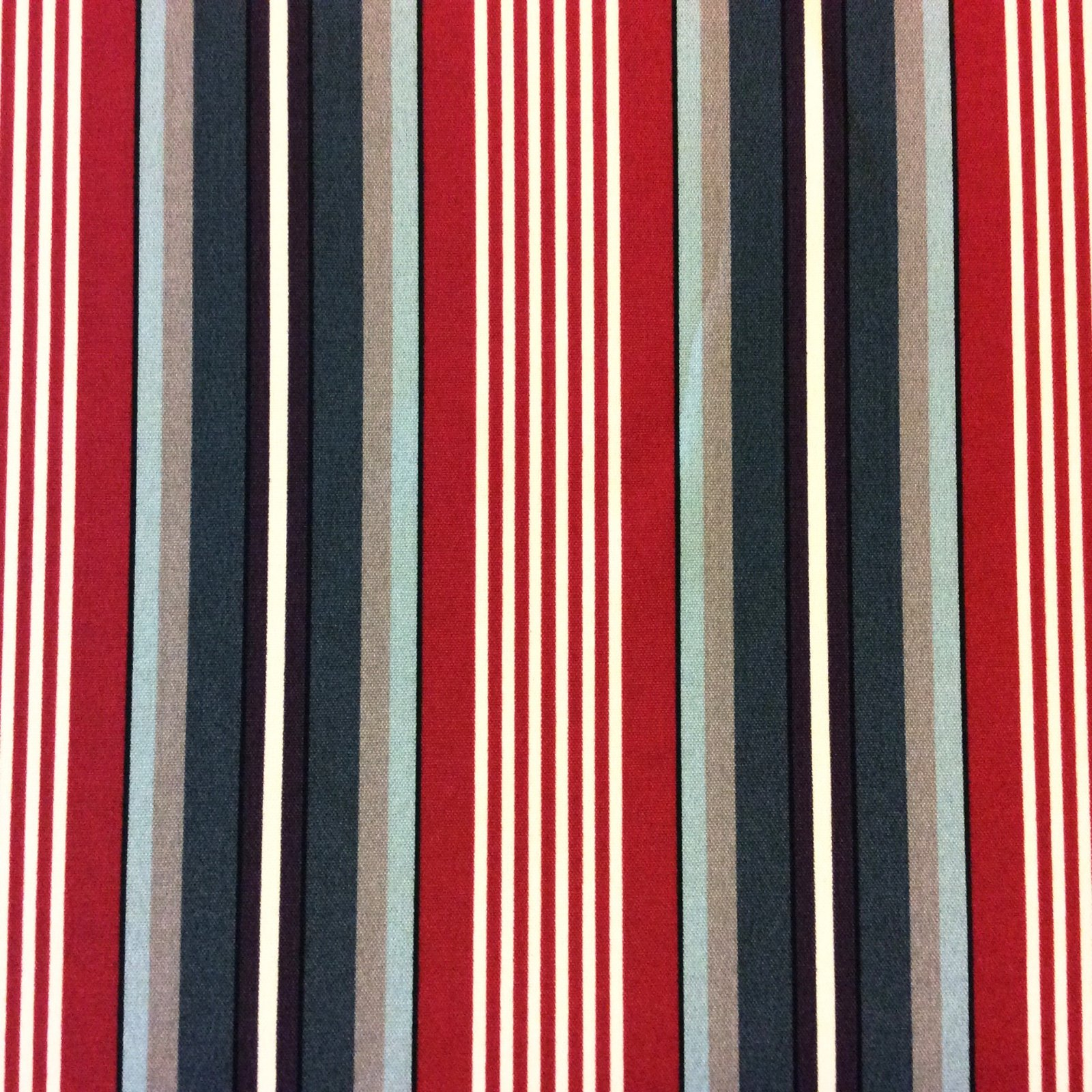 Classic Stripe Nautical Red White & Blue Stripe Geo Striped Patio Awning Indoor Outdoor Fabric SRI003