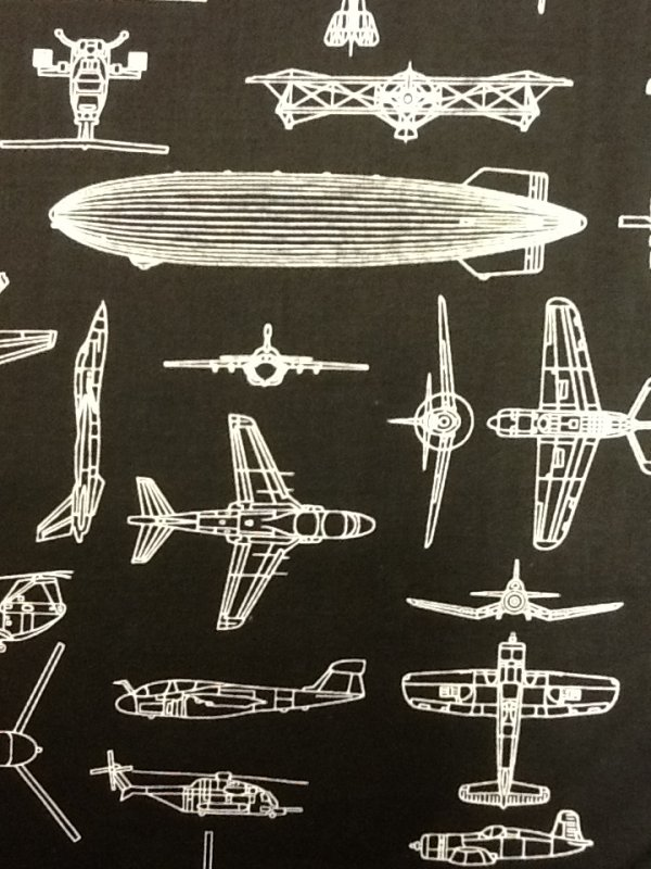 Military Airplanes Helicopter Naval Aviation Cotton Fabric Quilting Fabric T136