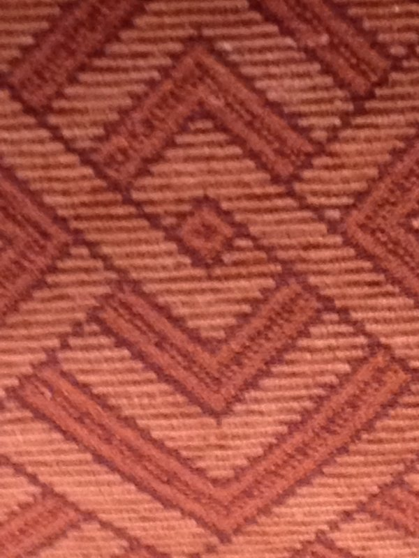 Clarence House Italy Tapestry Brick Red Southwest Pattern Heavy Weight Cotton Fabric Drapery Upholstery Fabric SALE! $39  per yard CLA147