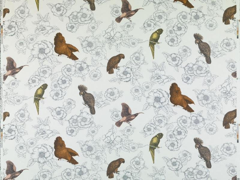Thomas Paul Pappagalli Bird Cotton Linen Fabric Home Dec Drapery Fabric Multi  DSO