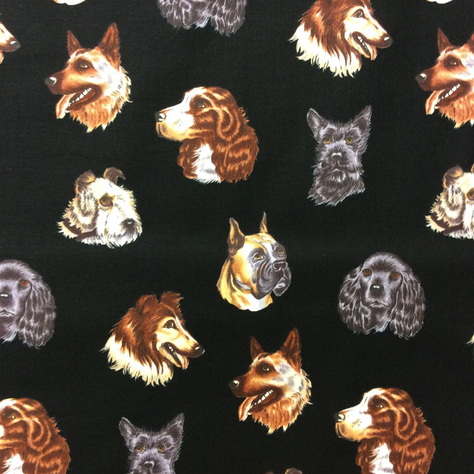 TT62 Portraits of Dogs Puppies Dog Lover Dog Quilt Cotton Quilting Fabric