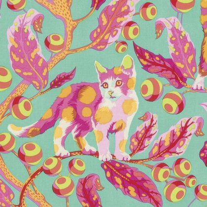 Tula Pink Tabby Road Kitty Cat Kittens Cotton Quilt Fabric