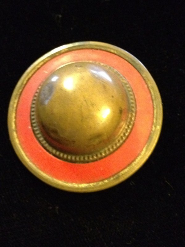 Vintage Large Metal Enamel Dome Button VINTAGE Buttons from the 1920's 1.5inch size - SALE!  each VB16