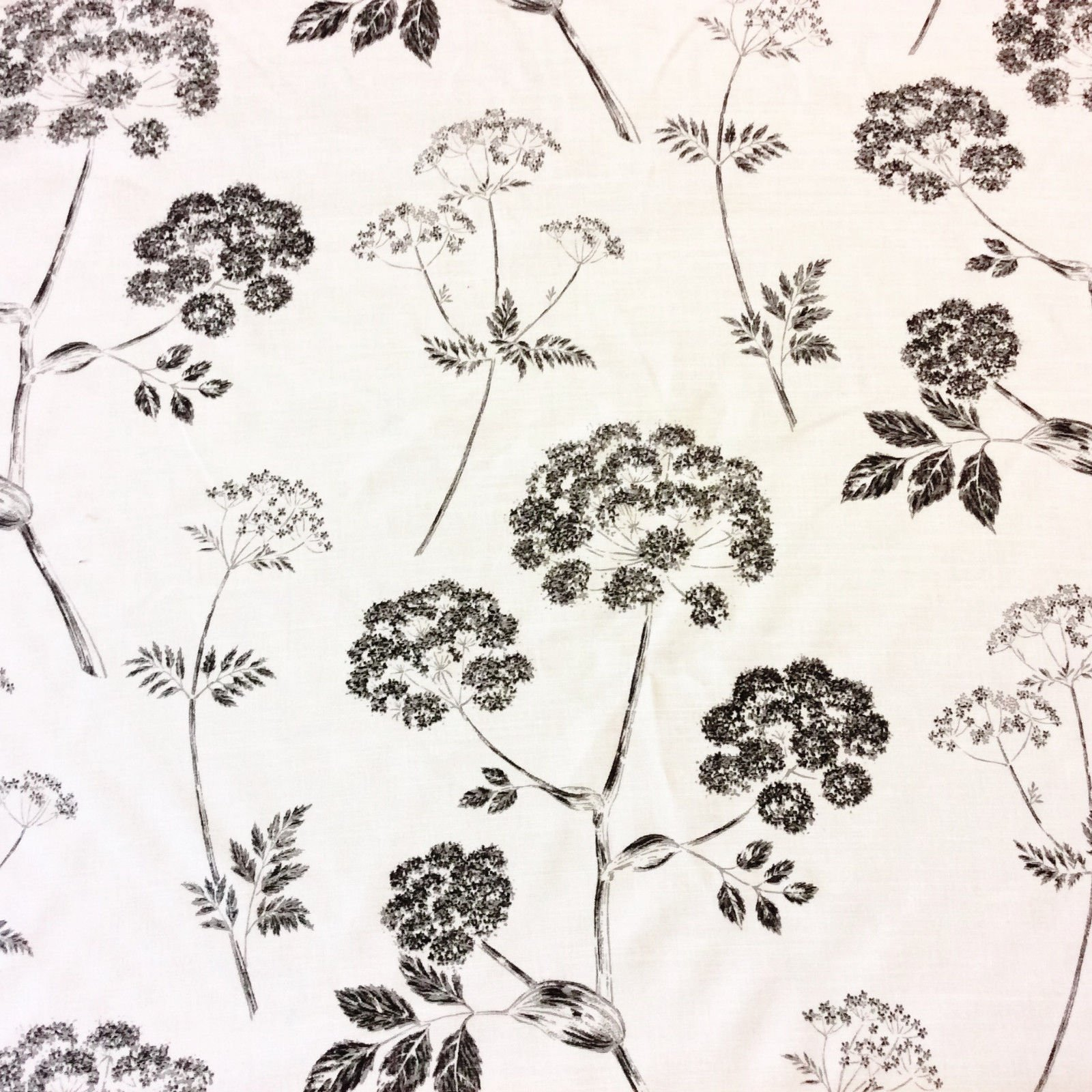 Beacon Hill Linen Kemsley Ramm Fabric Trees and Leaves Silhouette Linen Fabric Drapery Fabric WB03