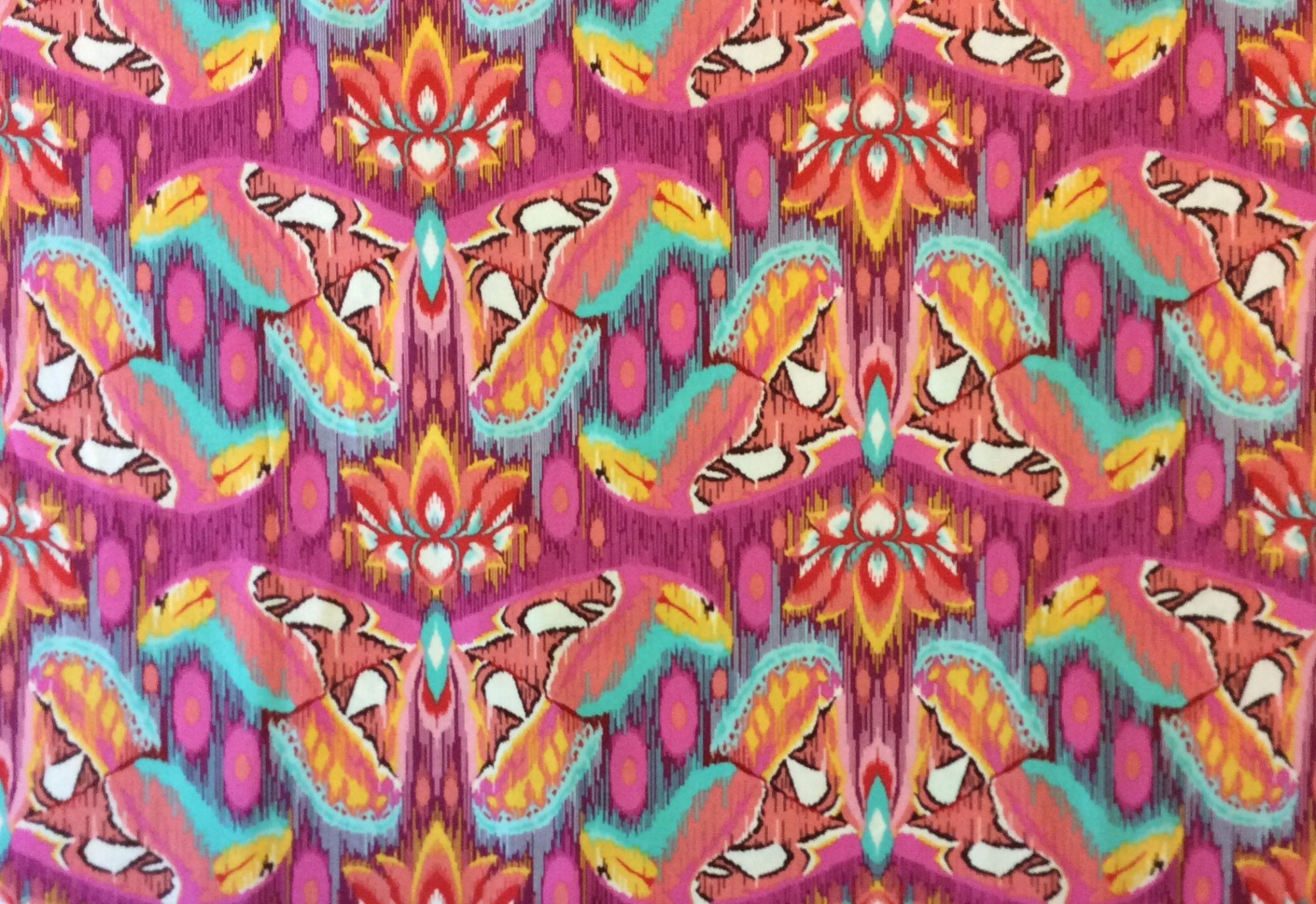 TULA PINK Butterfly Psychedelic Colorful Lotus Luck Quilting Cotton Fabric WE102