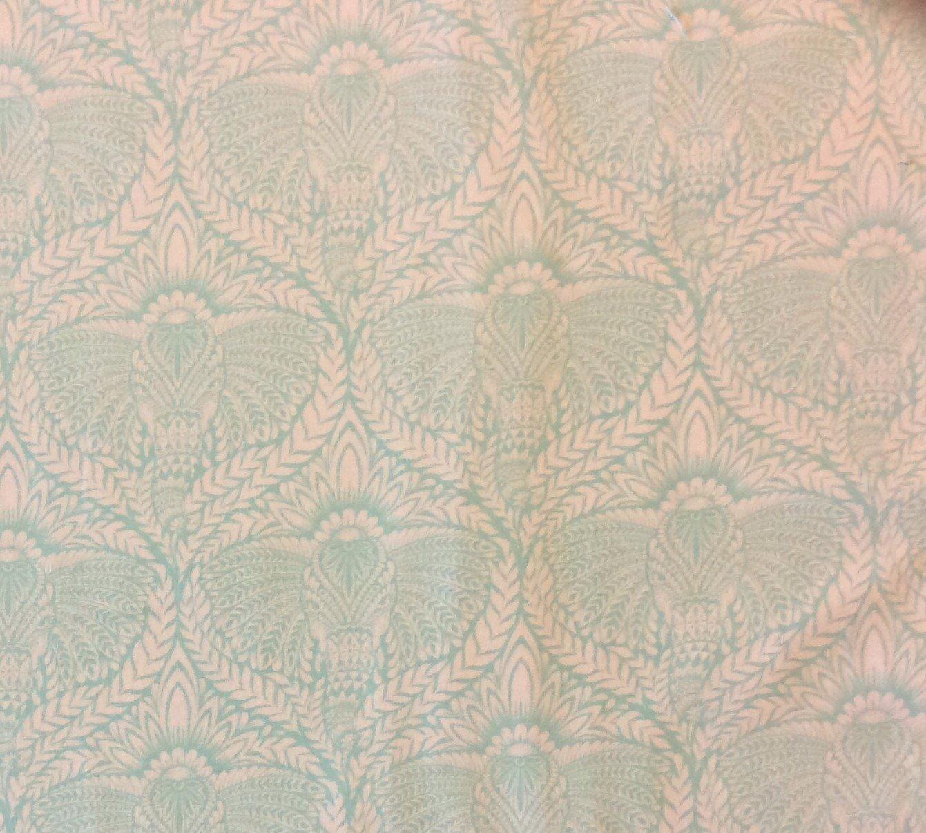 TULA PINK India Damask Ganesh Lotus Good Luck Quilting Cotton Fabric WE103
