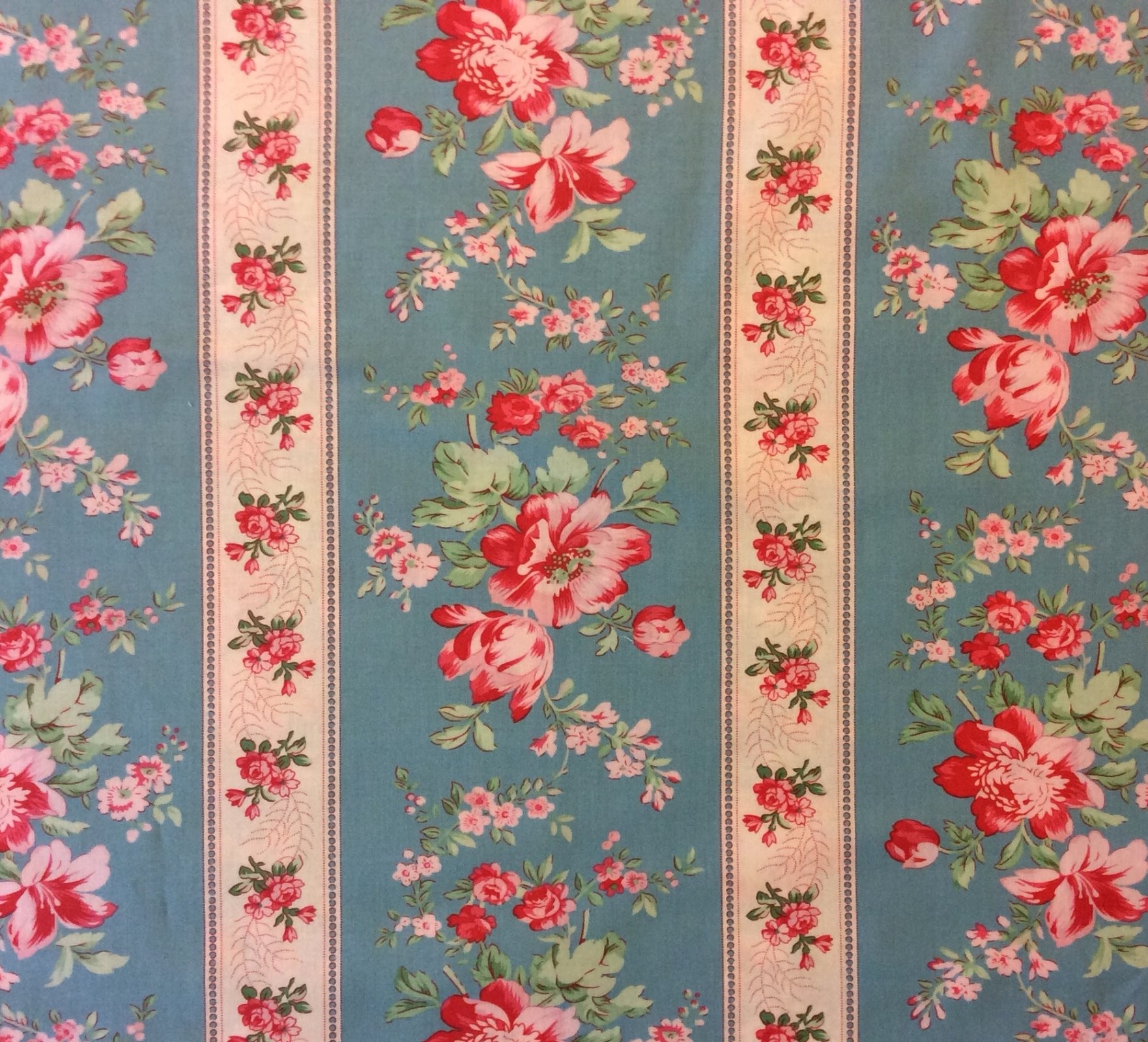 Country Life French Floral Wallpaper Kitschy Cotton Quilting