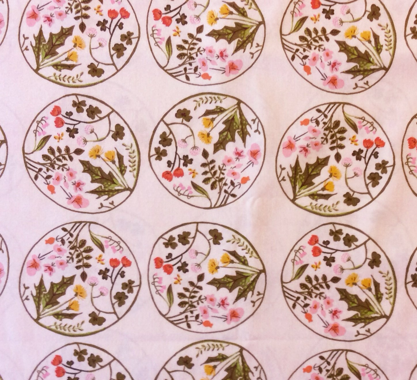 Heather Ross Floral Medallion Tiger Lily Wildflower Cotton Quilt Fabric Wi47