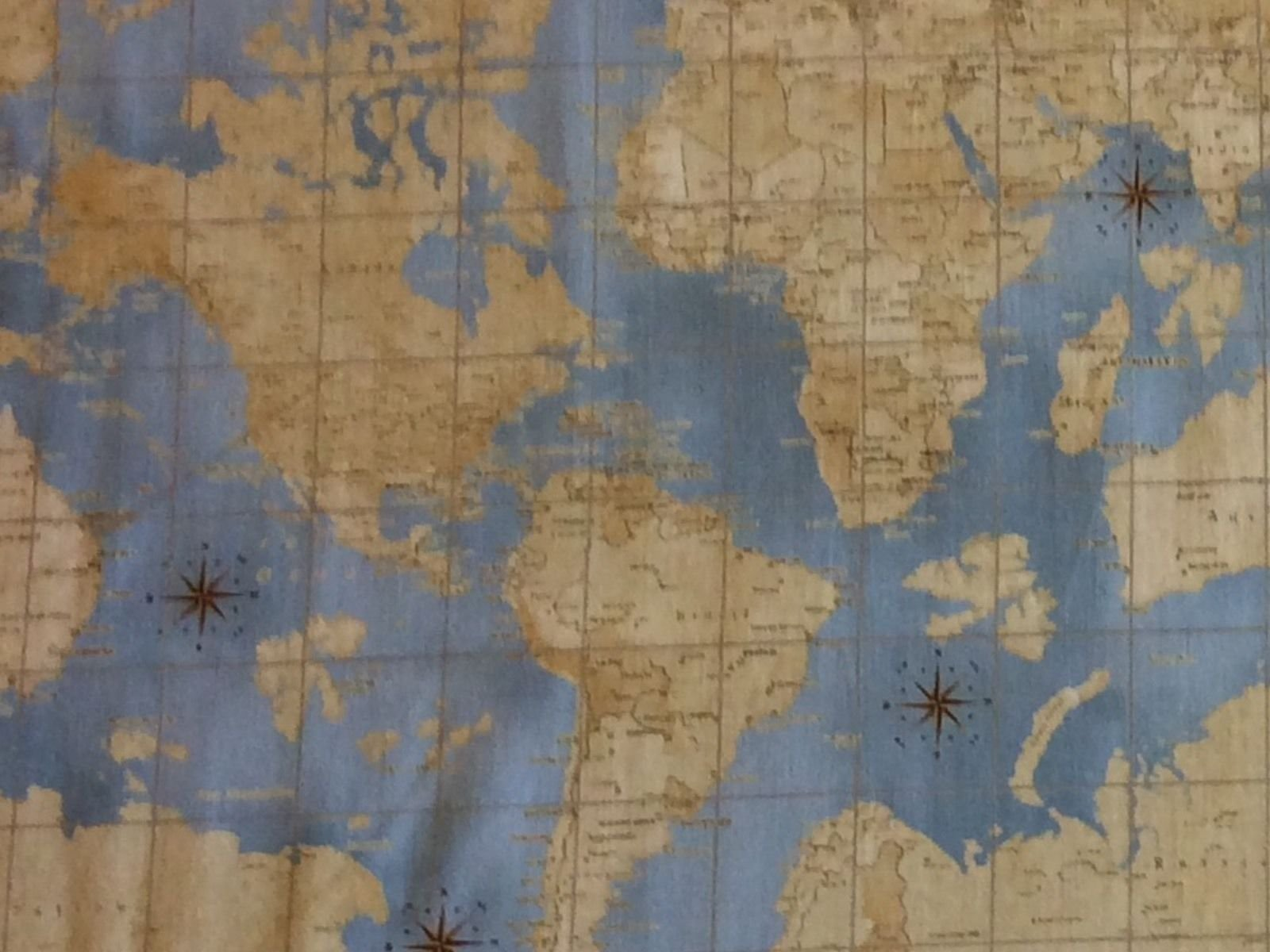 Wi90 theory of aviation wright bros world map navigation cotton wi90 theory of aviation wright bros world map navigation cotton quilt fabric gumiabroncs Gallery
