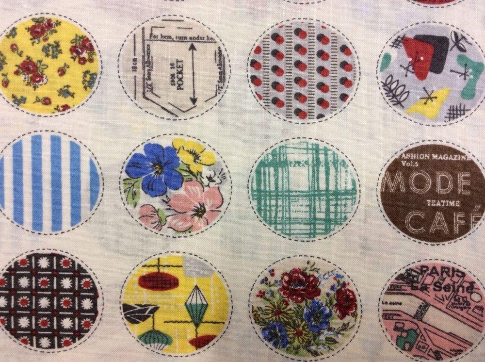 Patterned Circles Floral Dots Suzuko Koseki Yuwa Cotton Fabric Quilt Fabric YU04