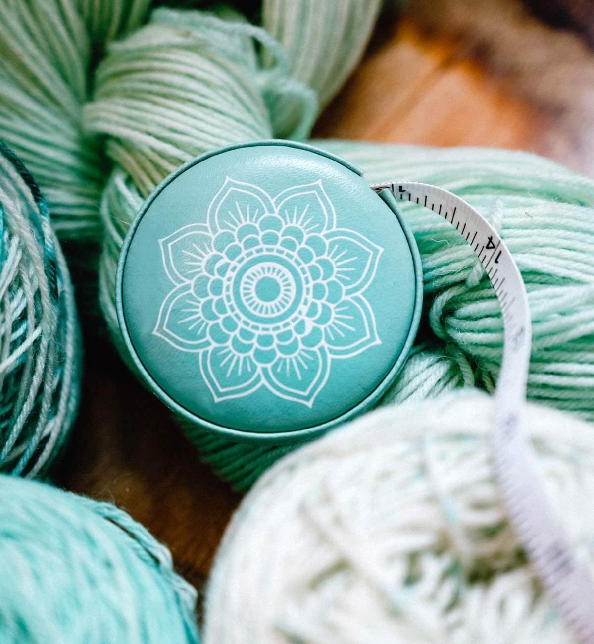 The Mindful Teal Tape Measure