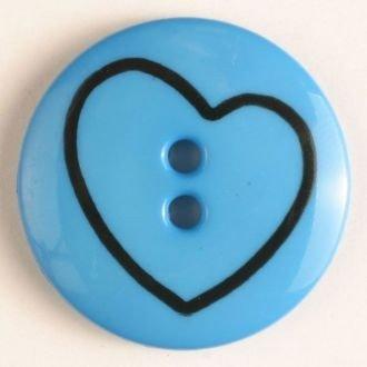 Children's Button w/Heart