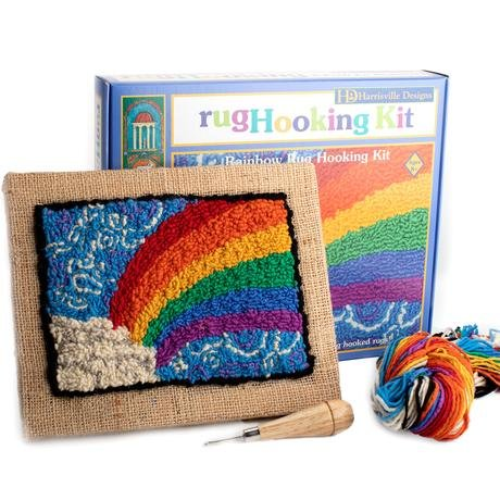 Harrisville Rainbow Rug Hooking Kit