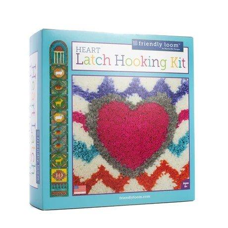 Harrisville Heart Latch Hooking Kit