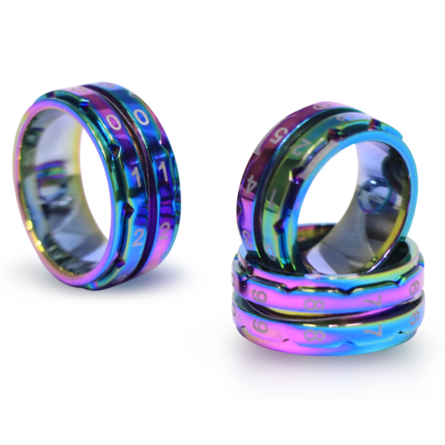 Rainbow Row Counter Ring