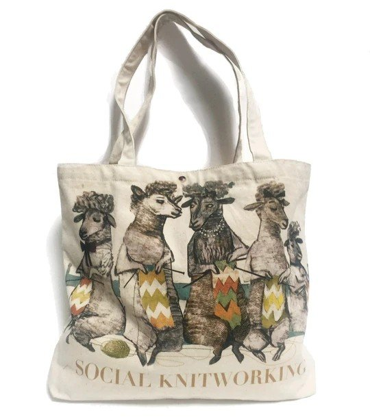 Artiphany Social Knitworking Tote Bag