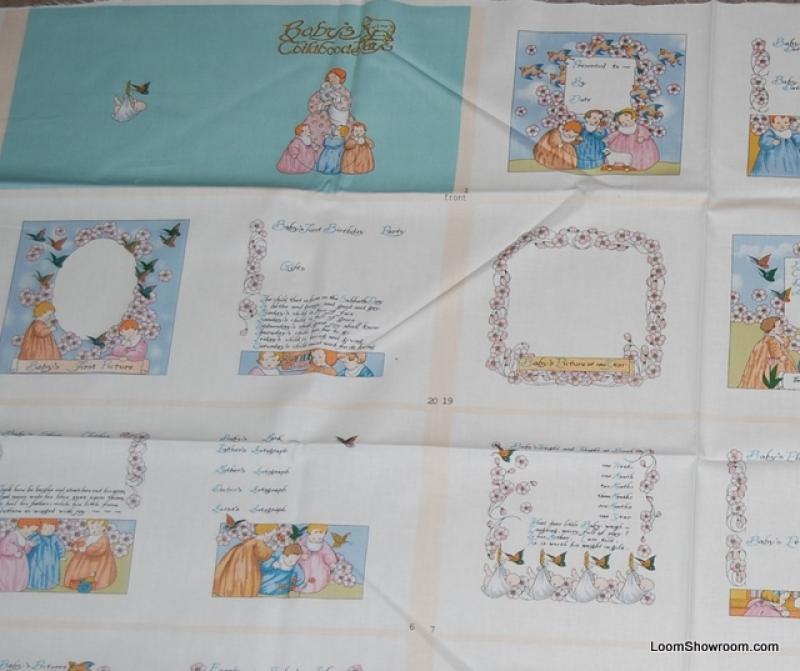 Baby's Childhood Keepsake Blocks Amy Barickman  Babies Portraits Panel Cotton fabric Quilt fabric 107QC