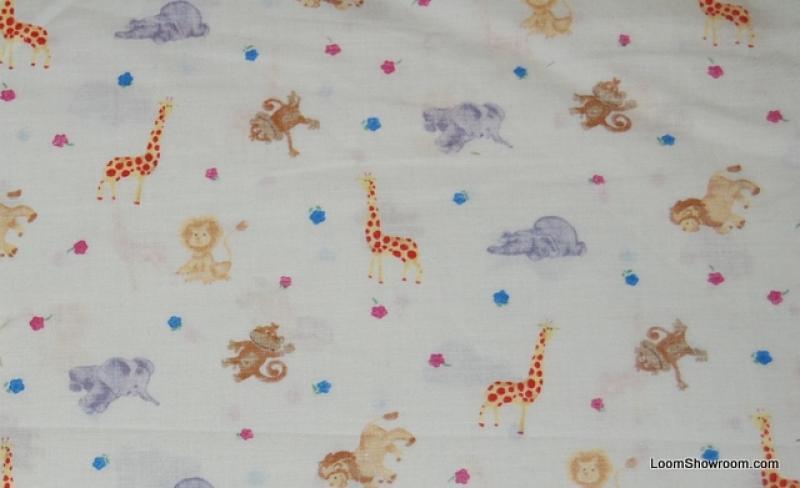 149 Retro Baby Theme Nursery Jungle Animals Lion Elephant Giraffe Cotton fabric Quilt fabric