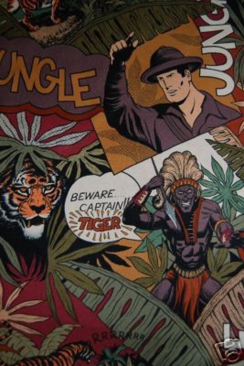 194 Jungle Safari Zulu Vintage Henry Sew Cotton Fabric