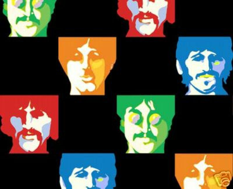 Beatles Band Face Warhol Retro Cotton Fabric  Quilt Fabric 513