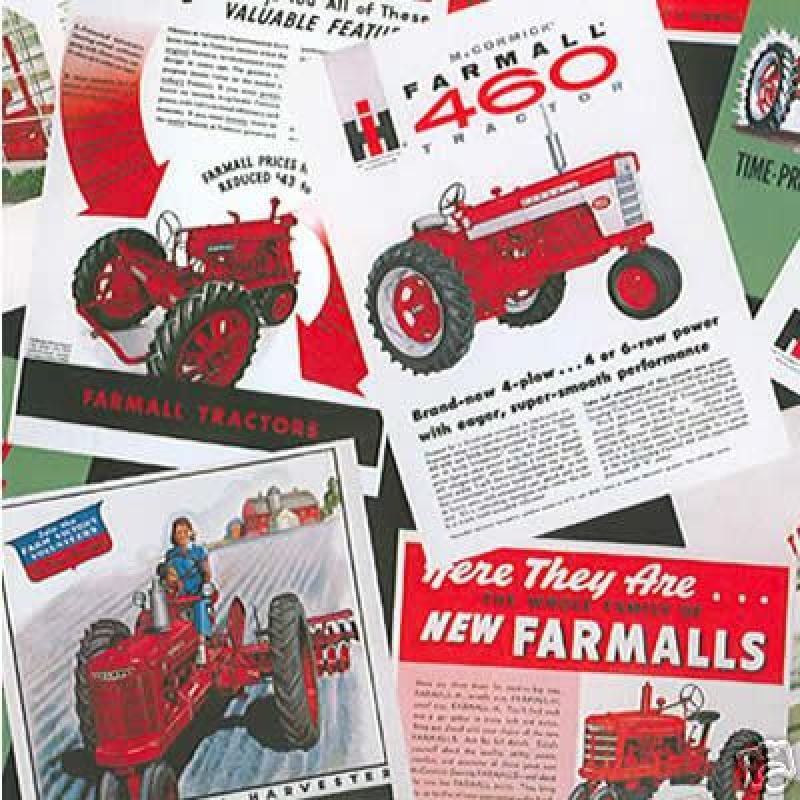 Farmall Tractor Vintage International Harvester Cotton Fabric Quilt Fabric Retro Print 645