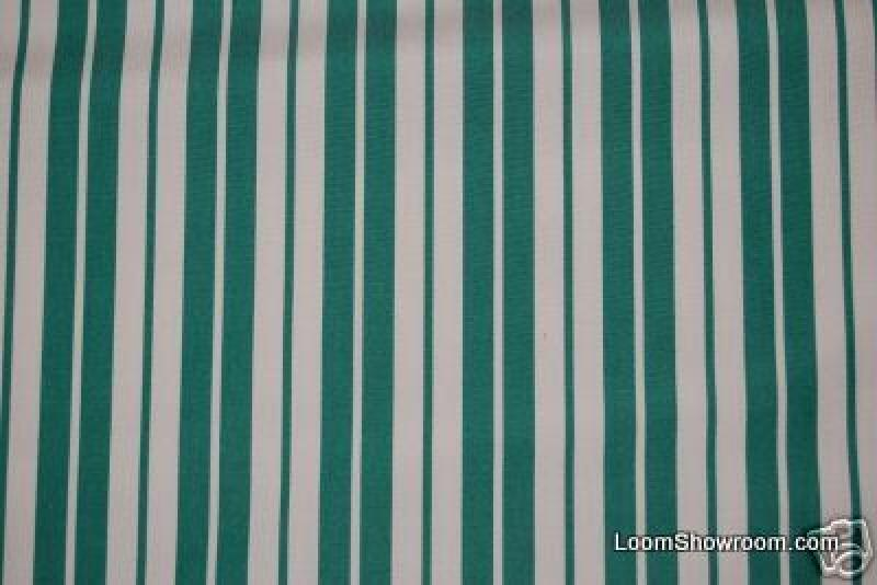 Classic Stripe Multi Stripe Emerald Green Sunbrella Outdoor Fabric 733