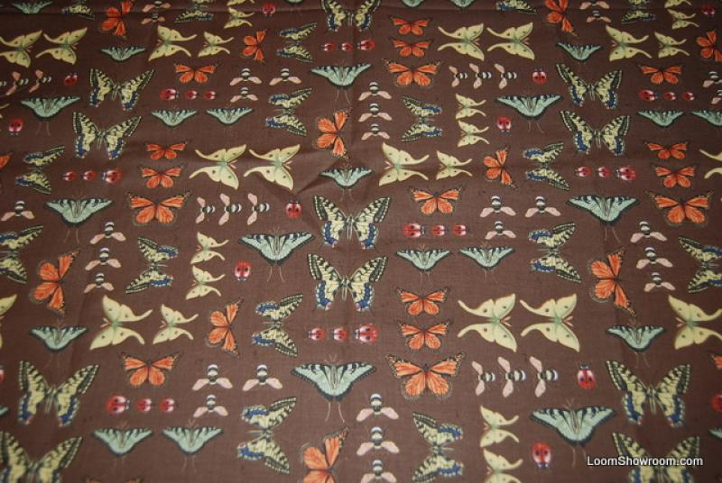 A236 Vintage Illustration Butterfly Insect Butterflies Ladybugs Bees Cotton fabric Quilt fabric