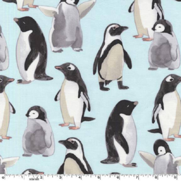 Penguin Sea Life Ocean Bird Cotton Fabric Quilt Fabric AB0104
