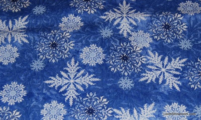 Snowflake Wendy Christmas Crystal Cotton Fabric Quilt Fabric ABO123