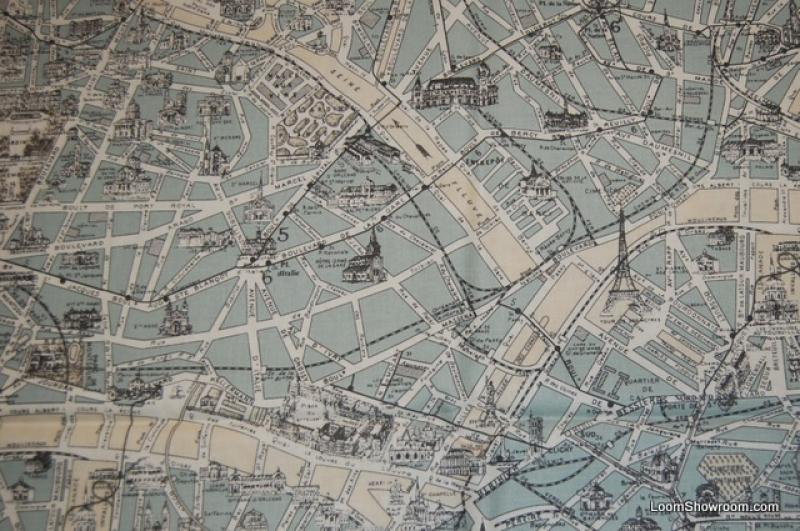Paris architecture street map vintage etchings france map vintage paris architecture street map vintage etchings france map vintage style print cotton fabric quilt fabric ac035 gumiabroncs Image collections