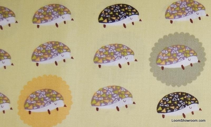 Hedgehog Cute Retro Print Cotton Fabric Quilt Fabric AC041