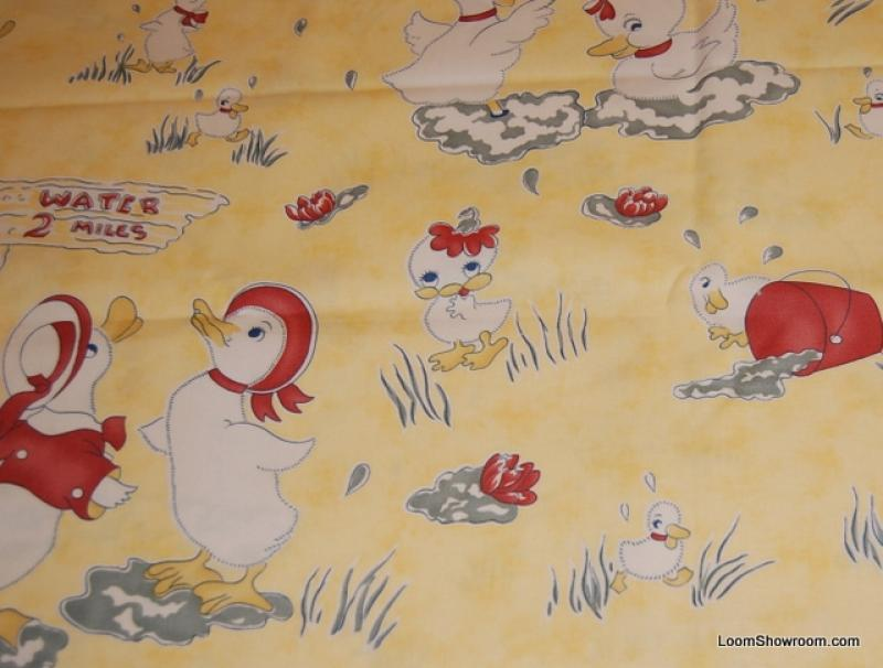 Little Duckling Vintage Print Childrens Theme Nursery Cotton Fabric Quilt Fabric WIDE  AC055