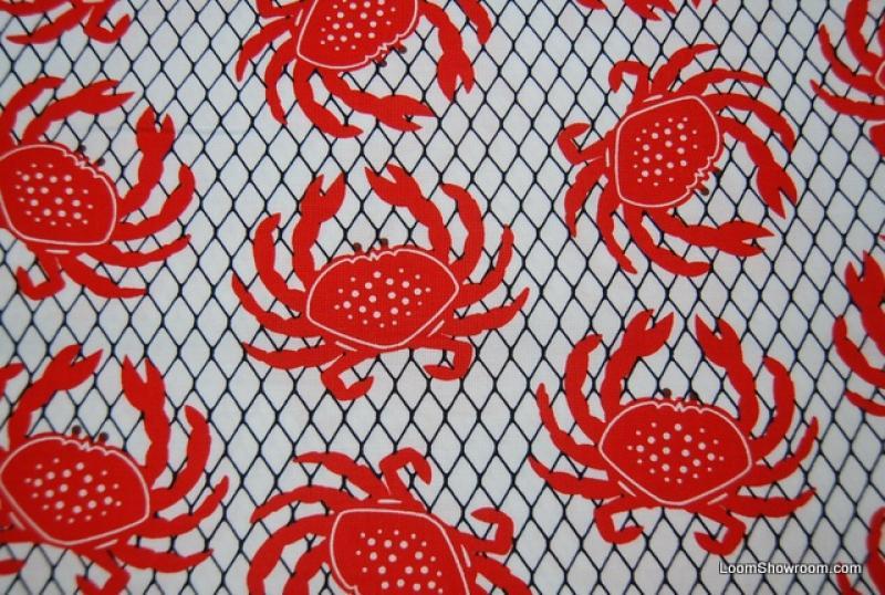 Crab Sea Food Sealife Ocean Retro Modern Cotton Fabric Quilt Fabric AC066