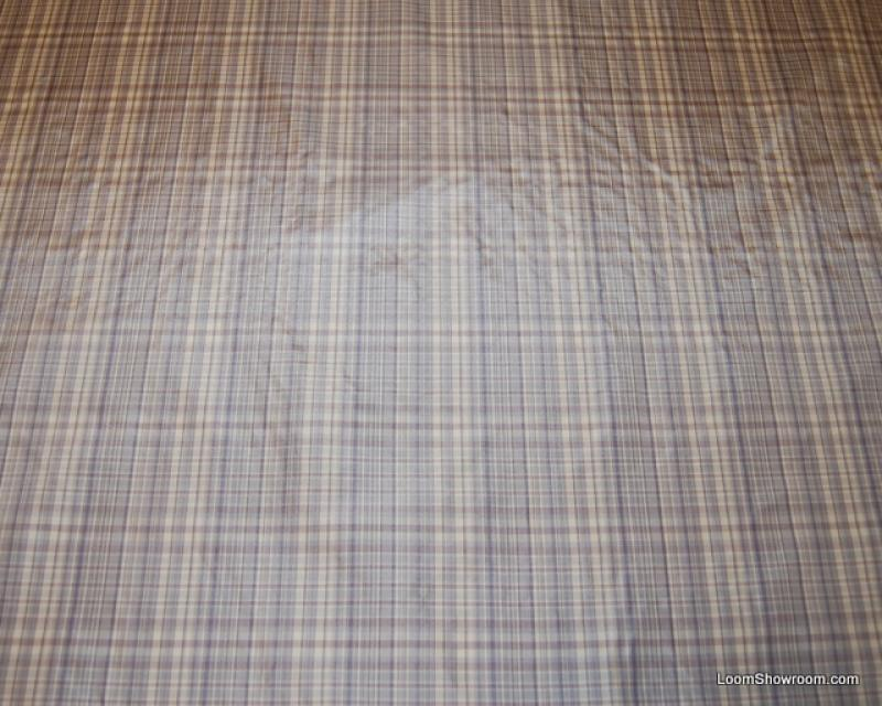 BF01 Brunschwig & Fils Silk Taffeta Plaid Purple and White Plaid Checker Design Heavy Taffeta Silk Fabric Drapery Fabric