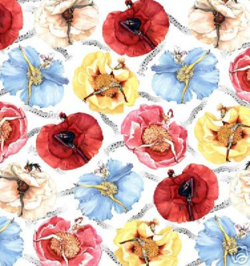 Can Can Ladies Sexy Pin Up Paris Floral France Sew Quilt Fabric Cotton Fabric C34
