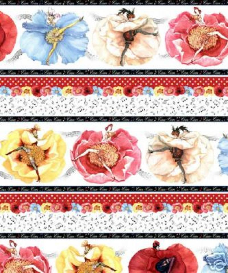 Can Can Ladies Sexy Pin Up Paris Floral France Sew Quilt Fabric Cotton Fabric C36