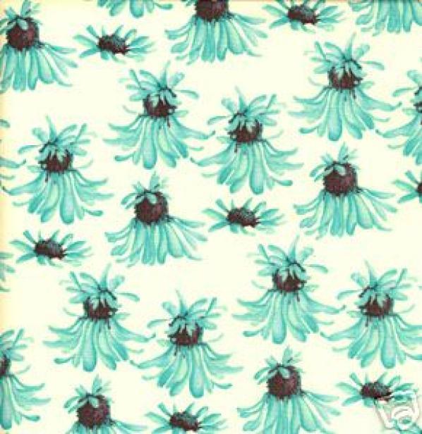 Rare! Out of Print! 30 x 44 Piece Tina Givens Georgina Floral Sew Quilt Cotton Fabric C53
